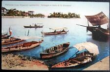 ITALY~ITALIA ~1900's PALLANZA (Lago Maggiore) Lombardia ~ FISHING BOATS~Spiaggia