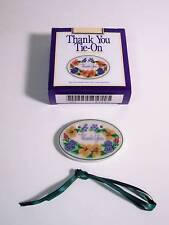 LONGABERGER TIE ON - THANK YOU - NEW WITH BOX