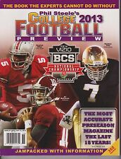 PHIL STEELE'S COLLEGE FOOTBALL 2013 PREVIEW, 2014 BCS,AJ McCarron, Miller, Tuitt