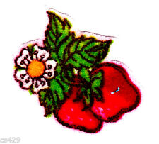 "1.5"" Strawberry shortcake strawberries mini fabric applique iron on"