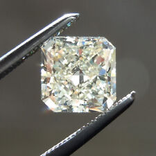 Lovely 11 X 9 MM 4.79 CT Off White Radiant Shape Cut Loose Moissanite 4 Ring