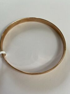 9ct Rose Gold Solid Half Round Bangle 5mm wide, 65mm Dia  RRP $1799