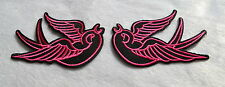 Le rondini Rosa, patch, VINTAGE, 2 pcs., aufbügler, ricamate, Old School, Rockabilly