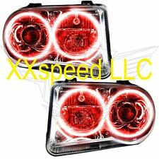 ORACLE Halo HEADLIGHTS NON HID Chrysler 300C V8 05-10 RED LED Angel Demon Eyes