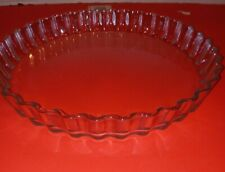 New listing Arcuisine France fluted 12 inch clear glass tart quiche pie pan baking dish