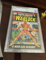 MARVEL PREMIERE #1 CBCS 9.2 ORIGIN ADAM WARLOCK* GUARDIANS GALAXY THOR LIKE CGC