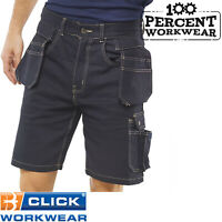 Trade Hard Wearing Heavy Duty Builders Cargo Tool Pockets Work Shorts Trousers