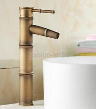 New Retro Antique Brass Bamboo Style Bathroom Basin Mixer Tap Faucet Fnf017