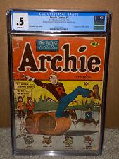 Archie Comics #1 CGC 0.5 MLJ 1942 Golden Age Key Book! D6 cm SALE!