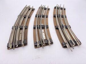 Lot 3 Vintage O Gauge Scale Railroad Track Step Metal Ties 4 Rails Pressed Base