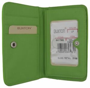 Buxton Women's Credit Card Case ID Holder With Snap Closure