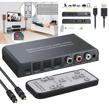 3 Optical SPDIF Toslink +1 Coaxial Digital to Analog Audio Converter with Remote