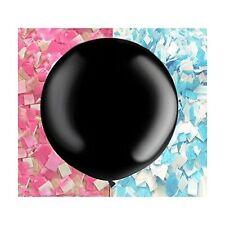 "Gender Reveal Balloon Black Giant 36"" balloon with confetti, Balloon confetti"