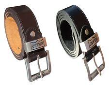 Men's Leather Belt, Jeans or Trouser Belts for Men, Sturdy Roller Buckle