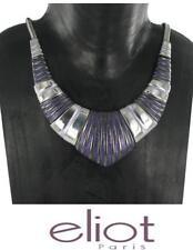 Statement Kette Statementkette Paris Designe Halskette Emaille Versilbert Eliot