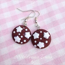 Orecchini Pan Di Stelle Cookies Cookie Kawaii Cute Earrings Fimo Polymer Clay