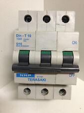 NHP TERASAKI D10523104003 Circuit Breaker 3 Pole MCB Din T-10 10kA D10