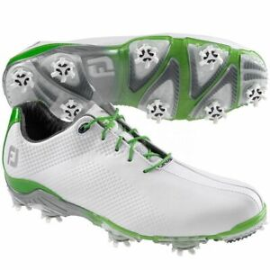 NEW! FootJoy [10] Medium DNA Men's Golf Shoes-White/Lime 53418