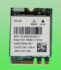 Killer1535 Model: QCNFA364A 802.11ac 867Mbps Bluetooth 4.1  0G13K7