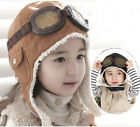 New Warm Baby Kid Toddler Boys Girls Winter Earflap Pilot Cap Aviator Hat Beanie