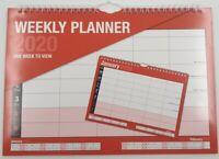 2020 A4 Weekly Planner Calendar Staff Rota Family Organiser W2W