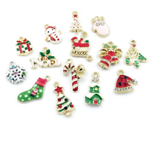 DIY Wholesale 14Pcs Gold Mix Christmas Pendants Charms Party Decor Ornament Set