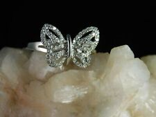 .40 ct. Diamond Butterfly Ring Solid 14K White Gold
