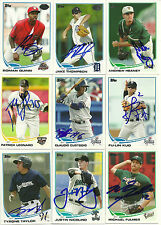 2013 Topps Pro Debut TYRONE TAYLOR Signed Card BREWERS auto HELENA #2 pick
