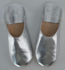 MOROCCAN LEATHER BABOUCHE SLIPPERS SHEEPSKIN MAHABIS MULES WOMENS  **HANDMADE**