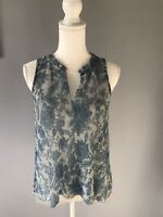 Anthropologie Blouse top size XS, Blue/Silver