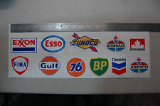 11 gas station Vinyl stickers Service Centre Locker Tool Lunch Box Racing