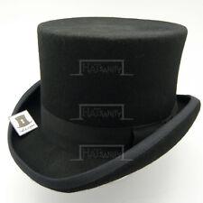 VINTAGE Wool Felt Men Top Hat Gentlemen Tuxedo Topper Victorian | Black | S M L
