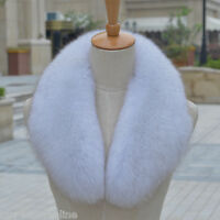 Brand Natural Fox Fur Collar Detachable Down Jacket Fur Scarf Wrap Shawl