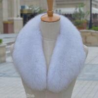 Brand Natural Fox Fur Collar Detachable Down Jacket Fur Scarf Wrap Shawl