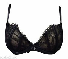 Ex High Street Lingerie Chain Women's Pure Lace under wired Bra Black 34E