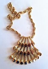 Vintage Signed NAPIER Egyptian Revival Pyramid  NECKLACE - Perfect Condition!