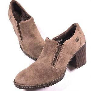 Born Brown Leather Nubuck Heels Size 9.5 (41 EU) Women's