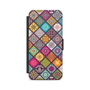 Mandala Pattern Colorful Pattern Flip Wallet Phone Case