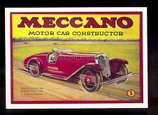 ad4087 - Meccano - Boys - Motor Car Constructor - Modern Advert postcard