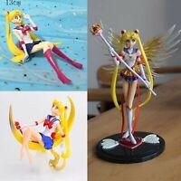 Sailor Moon Figure usagi tsukino FIGURES 3pcs lot anime doll cake toppers