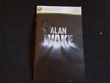 Alan Wake, Xbox 360 Game Manual, Trusted Ebay Shop