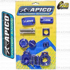 Apico Bling Pack Blue Blocks Caps Plugs Clamp Cover For Husqvarna TE 300 2017