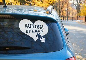 Autism Speaks heart Puzzle Vinyl Sticker Car Window OZ 9 COLORS