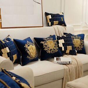 Velvet Cushion Cover Luxury European Pillow Cover PillowCase Geometry Home Decor
