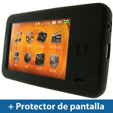 Negro Case Silicona para Creative Zen X-Fi 2 8/16/32gb Funda Cover Carcasa