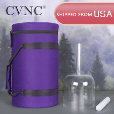 "CVNC 7"" A 3rd-eye Chakra Crystal Singing Handle Bowl Carry Case Bag Suede Mallet"