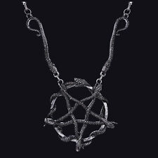 RESTYLE SNAKE PENTAGRAM NECKLACE. OCCULT. WITCHCRAFT. GOTHIC SERPENTS. WICCA