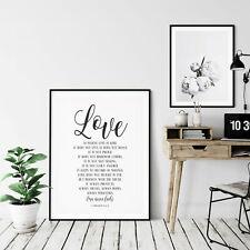 Love Is Patient, Love Never Fails, 1 Corinthians 13,Bible Verse Print Wall Art