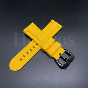 22 - 26 MM Soft Rubber Black Sport Diver Watch Band Strap Fits For Invicta 2021