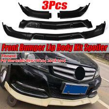 For Mercedes-Benz W204 C200 C250 C300 2008-14 Front Bumper Lip Spoiler Splitter